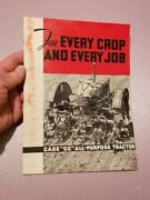 Case Cc All Purpose Tractor Sales Brochure 1934 31 Pages