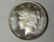 Proof Finish Peace Dollar Design 1 Oz .999 Silver Round This Is Not A Coin 5921