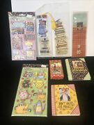 Mary Engelbreit Book Markers Stickers Miniature Books Adorable Lot