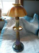 Louise Comfort Favrile Candle Lamp Signed L.c. T. Not Electrified