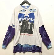 Vintage Wu-tang Shirt Wu Cream Original Rap Clan 90s T-shirt Xl Grateful Dead