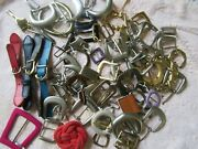 Junk Drawer Belt Buckle Lot Buckles Silver And Gold Tone Leather Large And Small
