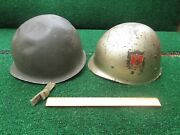 Collectible M1 Type Military Helmet And Liner Dated 1953 Korean War Same Mold As 2