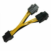 20pcs Nvidia Dual 6 Pin Female To 8 Pin Male Pcie Vga Video Card Power Cable Skd