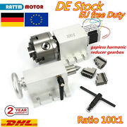 4th Axis Harmonic Gearbox Dividing Head Cnc Rotary A Axis 1001 Reducing Ratio