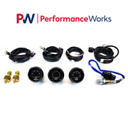 Aem Uego Wideband A/f Ratio And Turbo Boost And Oil Pressure 3 Gauges Combo Set