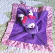 Fisher Price Bunny Rabbit Purple Pink Stars Baby Girl Security Blanket Lovey 12