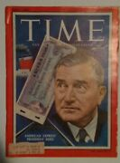 Time Mag. April 9, 1956 American Express' President Reed Cover Rare + Ad's