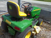 John Deere 345 With 48 Deck And 42 Hydraulic Rototiller