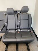 Mercedes Benz Metris European Seats 2 Passenger Bench Seat Recliner-slide-folds