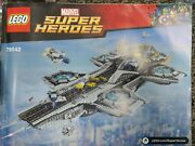 Lego 76042 Marvel Avengers The Shield Helicarrier Complete W/ Minifigures Manual