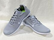 Nike Womenand039s Free Rn 2018 Wolf Grey/wht Running Shoes-asst Sizes Nwb 942837-003