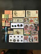 Junk Drawer20 Coins/currency/cards/stamps/fdc/post Card/jewelry/frozen Watch
