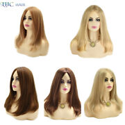 Long Straight Synthetic Lace Front Wigs For Caucasian Blonde Monofilament Wig