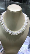 Classic Handmake South Sea White Pearl Necklace 18inch 925s