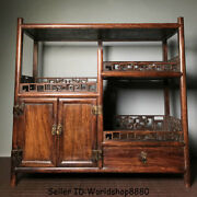 22 Antiquity Old China Huanghuali Wood Dynasty Drawer Cupboard Cabinet Shelf