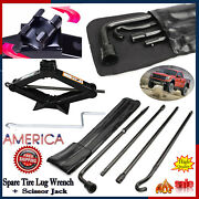 For 2004-2014 Ford F-150 Spare Tire Tools Kit Scissor Jack W/-handle+ Lug Wrench