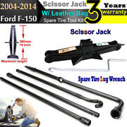 For Ford F150 Spare Tire Jack Tool Kit Pack W/ Case + 2 Ton Scissor Lifting Jack