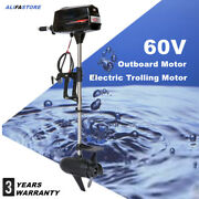 Usa 60v Electric Outboard Trolling Brushless Motor Fishing Boat Engine 2200w New