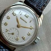 Zenith Used Watch Antique Ladies Silver Leather Brown Luxury