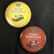 Lot Of 2 Disney Cars Land Pin Badge Buttons 3 Speedy Cabby Radiator Springs