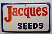 Jacques Seeds Double Sided Plastic Sign Farm Agriculture Corn Advertising 21x13