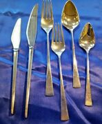 Dimension By Reed And Barton Sterling Silver Flatware Service For 6 Set 48 Pcs