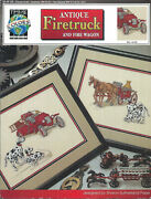 Antique Firetruck And Fire Wagon Cross Stitch True Colors Leaflet Bcl-10125