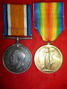 Ww1 Bi-lingual Victory Medal Pair To South African Bert, D.s.c., Rand Light Inf.