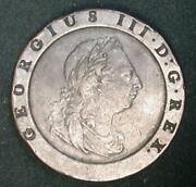 1797 British 2 Pence George 3, Very Choice  Nicely Struck