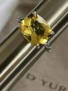 Pre Owned David Yurman Cable Color Classic Citrine Ring Size 7
