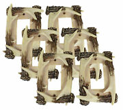 Set Of 6 Rustic Forest Stag Deer Antlers Single Rocker Wall Switch Cover Plates