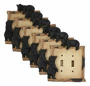 Ebros Set Of 6 Black Bear By Twigs Wall Light Cover Plate Double Toggle Switch