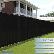 4 Ft Tall Black Privacy Screen Fence Windscreen Mesh Shade Cover Custom Length