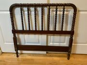 Antique Jenny Lind Singledouble 3/4 Spindle Bed Headboard And Baseboard 1870