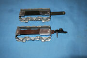2 American Flyer Diesel Alco Locomotive Side Frameand039s W/tow Bar And Link Coupler