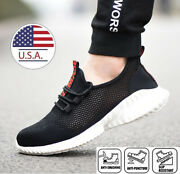 Womens Safety Shoes Steel Toe Caps Work Boots Indestructible Sneakers Breathable