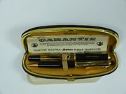 Vintage Pelikan Fountain Pen And Pencil Set With Leather Case