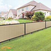 Custom 8ft Beige Vinyl Coated Fence 100 Privacy Commercial Home Patio Screen