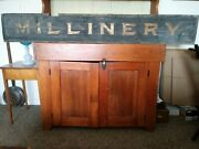 19th Century Millinery Wooden Trade Sign
