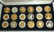 National Collector's Mint 18 Coin 24k Gold Plated Tribute Proof Set With Case