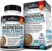 Magnesium Bisglycinate 100 Chelate No-laxative Effect. Maximum Absorption