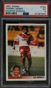 1997 Panini Los Mejores Equipos Europa Thierry Henry Rookie Rc 182 Psa 5 Ex