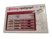 Rotring Rapidograph Technical Pen Set West Germany Drawing Lettering Radiograph