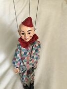 Vintage Hazelleand039s Marionette Toto The Clown 1960and039s