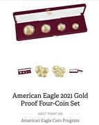 2021 W 21ef American Eagle 2021 Gold Proof Four-coin Set