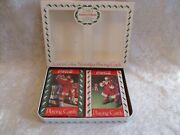 1993 Limited Edition Coca-cola Santa Claus Playing Cards Unopened In Tin Case