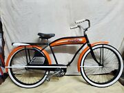 Unique Harley Davidson Inspired Early Jc Higgins Skip Tooth Bicycle.