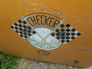 Vintage Checker Cab Rear Door Wall Art Yellow Cab Taxi Ny Automotive Garage Ia
