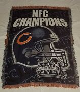 Chicago Bears Vintage Tapestry Woven Throw Blanket The Northwest Nfl Rare 2007